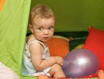 Dans la tente Images libres de droits