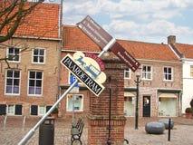 Dans la ville néerlandaise de Heusden. Pays-Bas Image libre de droits