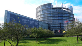 dans le bâtiment d'Union européenne de l'Allemagne Images stock
