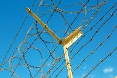 dans le barbwire de l'Oman en ciel Images stock