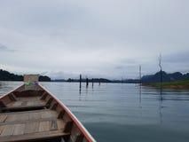 Dans le barrage de Chiewlarn Image stock