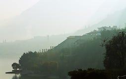 Dans le brouillard images stock
