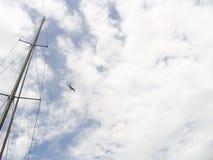 Dans le ciel de mer Photo stock
