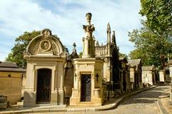 Dans le cimetière de Pere-Lachaise Image stock