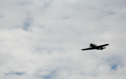 Dans le combattant soviétique russe d'avions militaires de ciel, avions d'attaque de la deuxième guerre mondiale Photo libre de droits