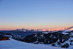 Dans le dessus de mes montagnes images stock
