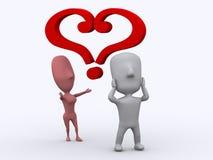 Dans le doute de l'amour Image libre de droits
