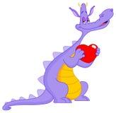 Dans le dragon d'amour illustration de vecteur