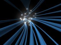 Dans le flux de la fibre rougeoyante Photo libre de droits