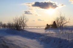 Dans le Kamouraska del invierno foto de archivo