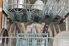Dans le lave-vaisselle Image libre de droits