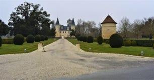 Dans le Médoc, Francia del aggassac del ` del castillo francés d imagen de archivo