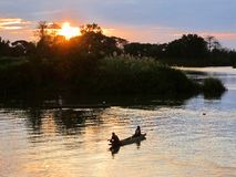 Dans le Mekong Image libre de droits