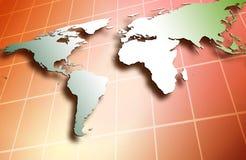 Dans le monde entier Image libre de droits