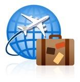 Dans le monde entier voyageant Image libre de droits