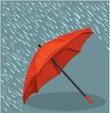 Dans le parapluie de pluie Photo libre de droits