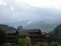 Dans le paysage de montagne photographie stock