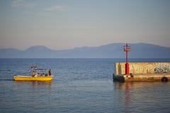 Dans le port Photographie stock libre de droits