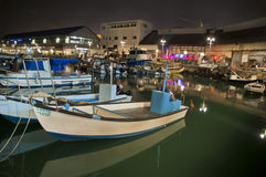 Dans le port de Jaffa Photos libres de droits
