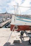 Dans le port de Marseille image libre de droits