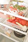 Dans le réfrigérateur Images libres de droits