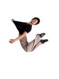 Dans le saut 11 de mouvement Photo stock