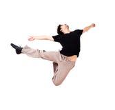 Dans le saut 8 de mouvement Photo libre de droits