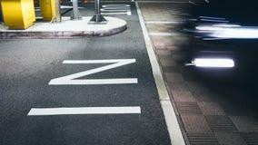 DANS le Signage dans le signe de stationnement de parking extérieur Photos libres de droits