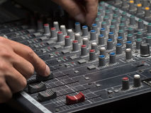 Dans le studio de musique Image libre de droits