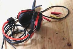 Dans le système audio de salle de commande Filtres et vintage Styl de photo Images stock