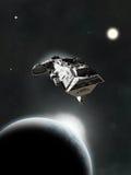 Dans le système, croiseur cuirassé de la science-fiction Photographie stock libre de droits