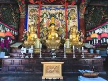 Dans le temple coréen LA CORÉE DU SUD photographie stock