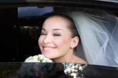 Dans le véhicule de mariage Photo stock