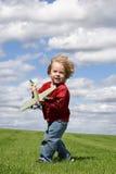 Dans le vent Photos libres de droits