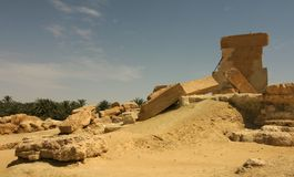 Temple d'Oracle d'Amun, Umm Ubayda, Siwa Egypte Photographie stock