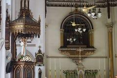 Dans les églises chrétiennes pluricentenaires Photo stock