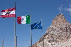 Dans les Alpes de dolomite Photos stock