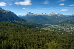 Dans les Alpes de dolomite Photographie stock