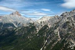 Dans les Alpes de dolomite Photographie stock libre de droits