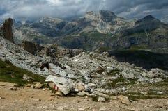 Dans les Alpes de dolomite Photos libres de droits