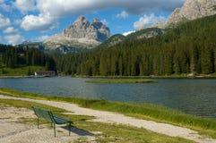 Dans les Alpes de dolomite Images libres de droits