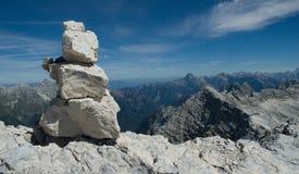 Dans les Alpes de la Slovénie Photo libre de droits