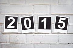 2015 dans les cadres instantanés de photo Photographie stock libre de droits