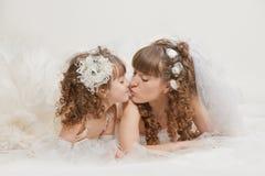 Dans les nuages de mariage Photo libre de droits