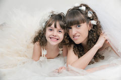 Dans les nuages de mariage Photo stock