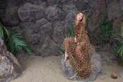 Dans les roches Photo libre de droits