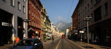 Dans les rues d'Innsbruck Photographie stock libre de droits