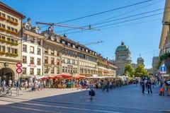 Dans les rues de Berne Photo libre de droits