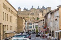 Dans les rues de Carcassonne Photographie stock