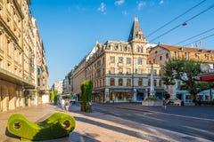 Dans les rues de Genève Photo libre de droits